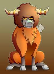 Orange Buffalo is Unimpressed by LucarioOcarina