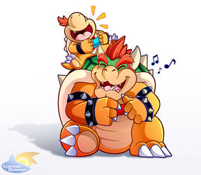 Bowser Jr Has A Really Cool Dad by LucarioOcarina