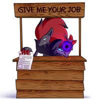 Zoroark wants your job by LucarioOcarina