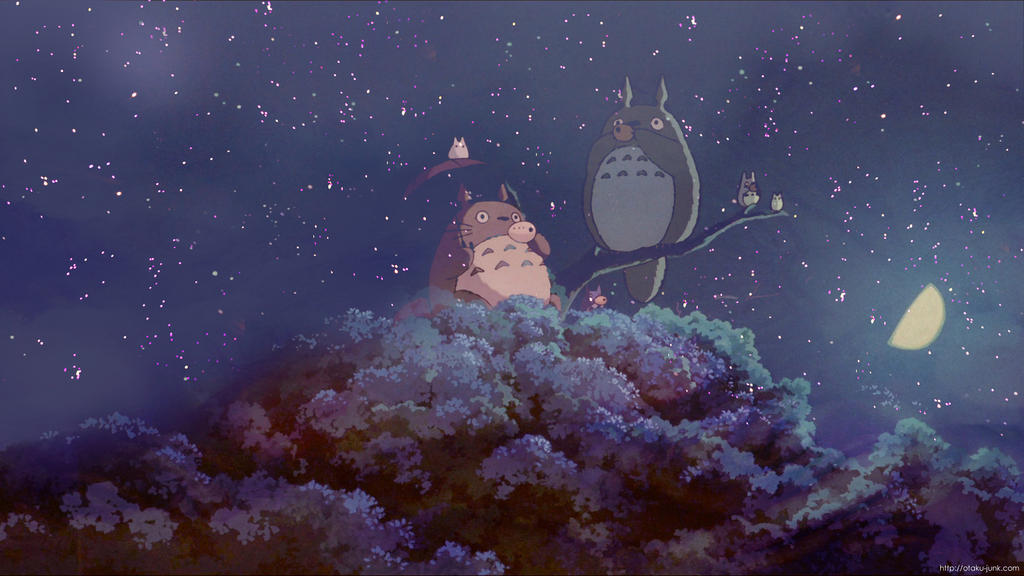 Night Sky Totoro Wallpaper by OtakuJunk on DeviantArt