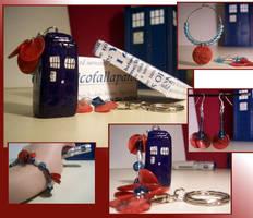 TARDIS Charm set by PheonixKarr