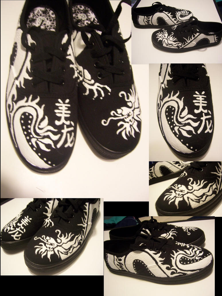 Custom Dragon Shoes by PheonixKarr