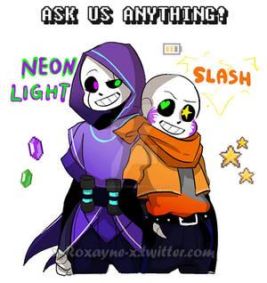 Ask Neon And Slash .:UT OC/AU:.
