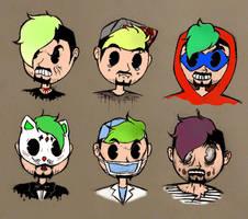 Jackaboy's alter ego gang~ by SpunketPunk