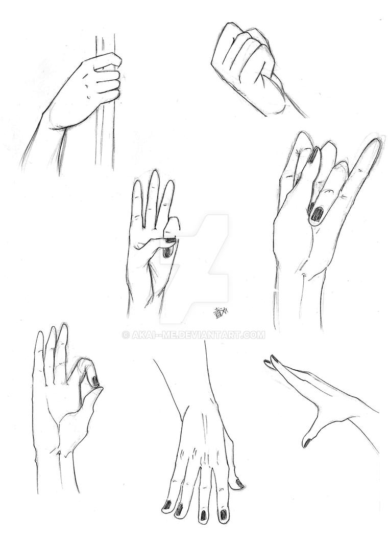 hands practice by akai me on deviantart