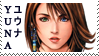 Final Fantasy X Yuna Stamp 2 by JackdawStamps