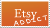 Etsy Addict Stamp by JackdawStamps