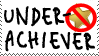 Underachiever Stamp by JackdawStamps