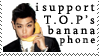T.O.P's Banana Phone Stamp by JackdawStamps