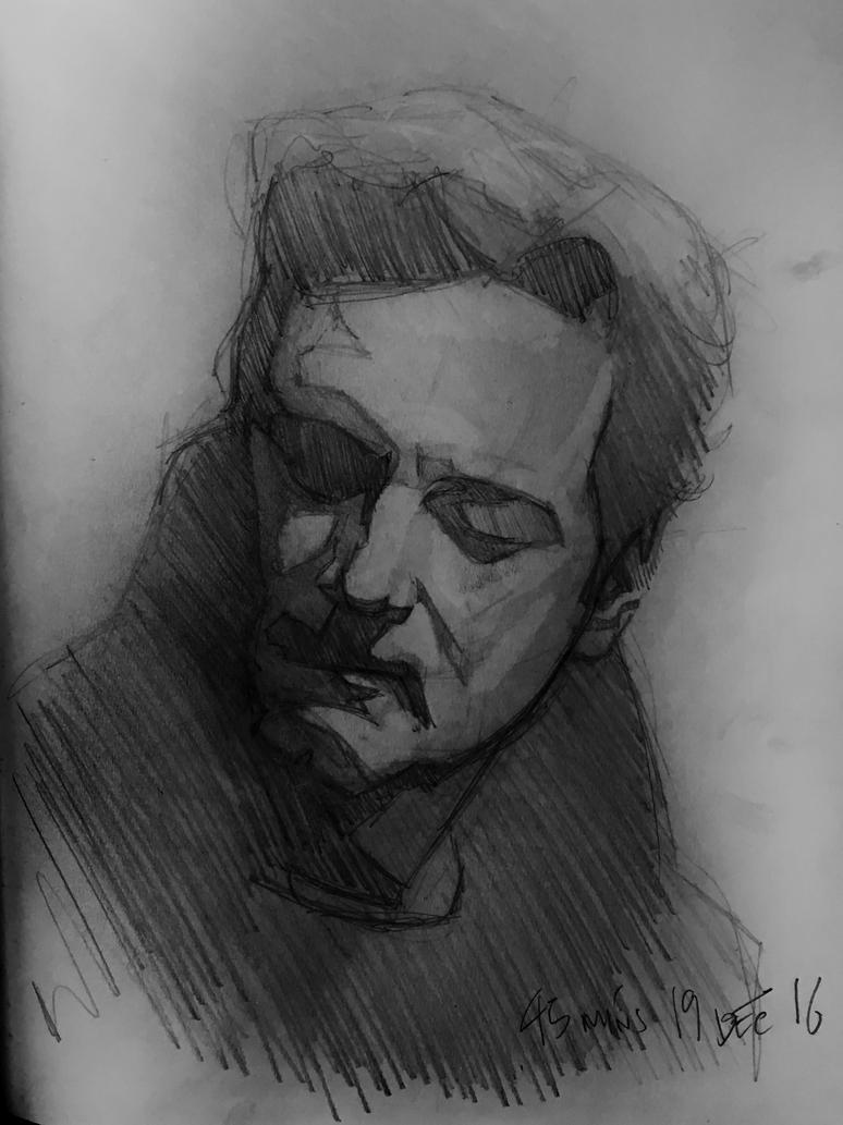 Colin Firth - 20 minute sketch by bris1985
