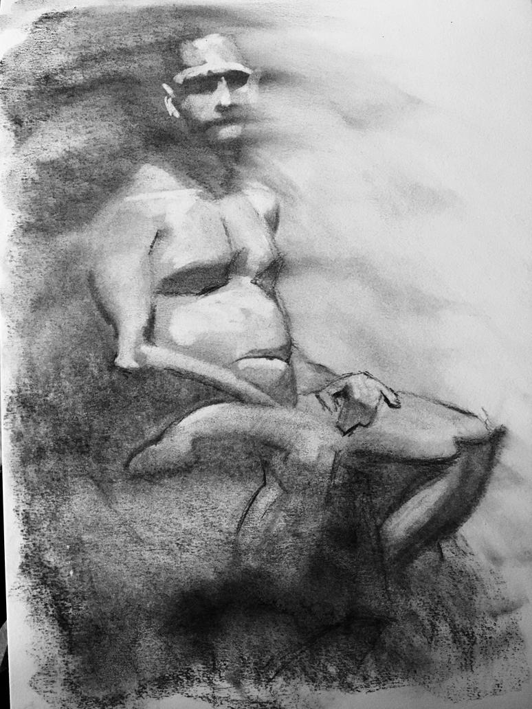 Life Drawing - Charcoal 20 minutes by bris1985