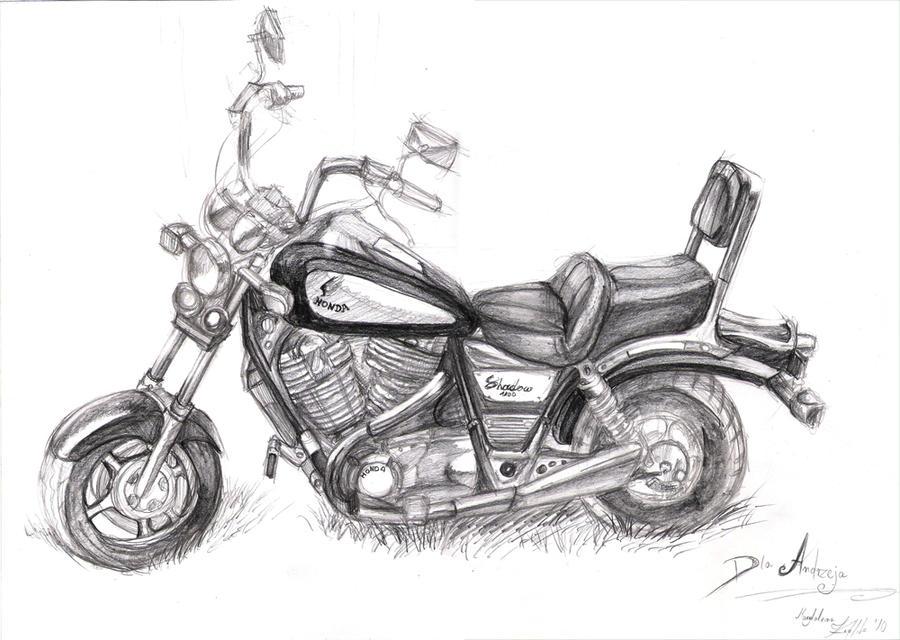 Honda Shadow drawing by AnimaTurpis