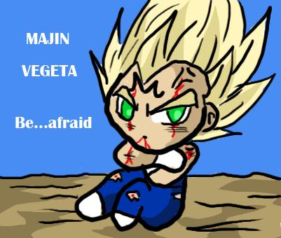 Majin Vegeta be afraid by Dbzbabe