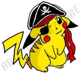 ARRR I be Pikachu by Dbzbabe