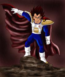 Prince Vegeta by Dbzbabe