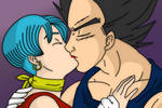 Vegeta + Bulma Kiss