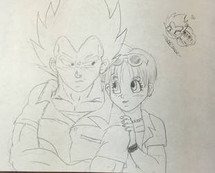 Vegeta/Bulma DBS Episode 2 Sketch by Dbzbabe