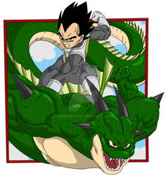 Dragon Ball Super Manga - Vegeta back cover