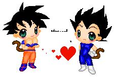 Goku X Vegeta Pixel Art by Dbzbabe