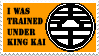 Trained by King Kai stamp by Dbzbabe