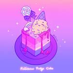 Rainbow Fudge Cake