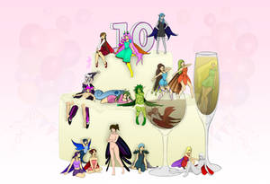 10th dA Anniversary by zylladys