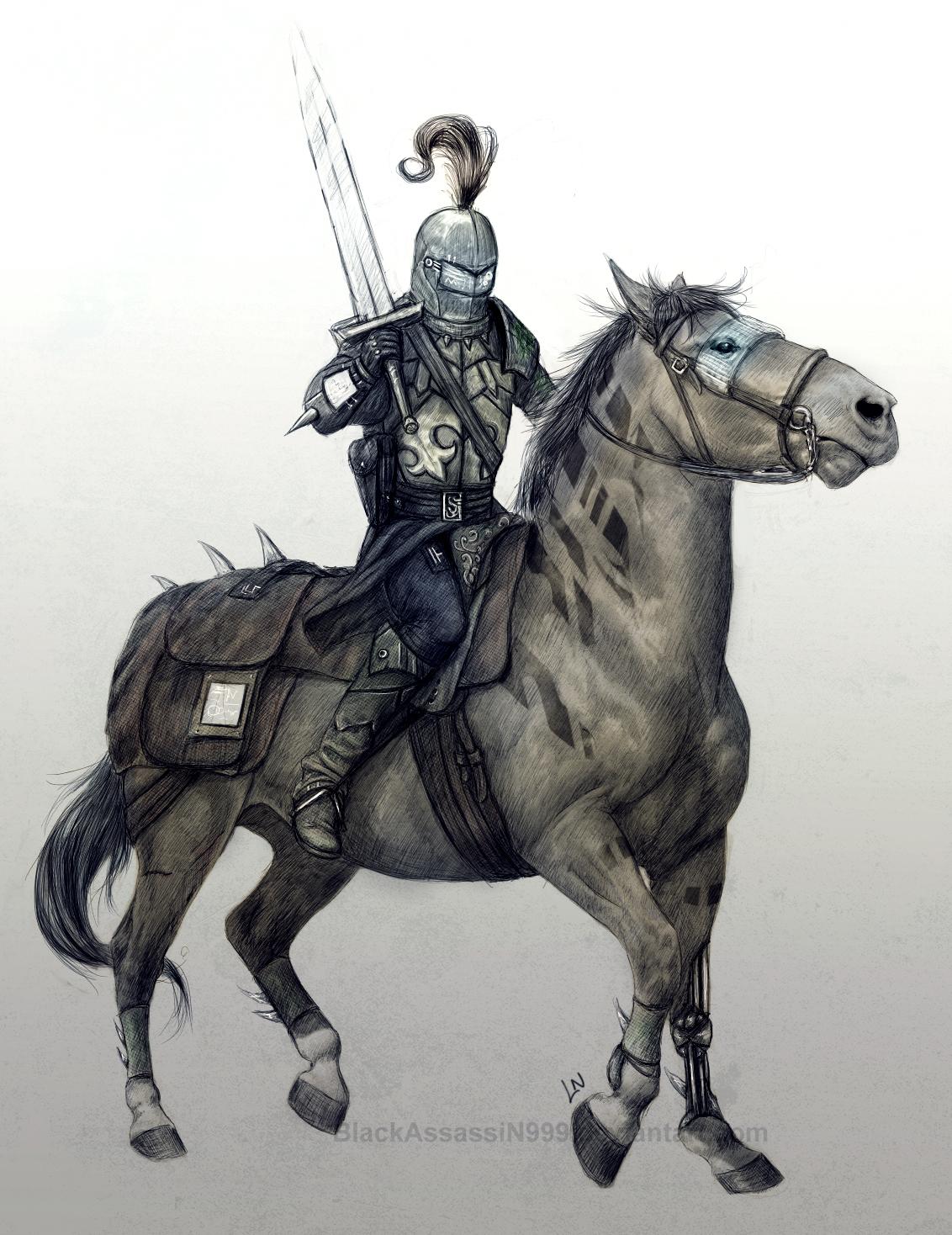 Coloured Knight sketch by BlackAssassiN999 on DeviantArt