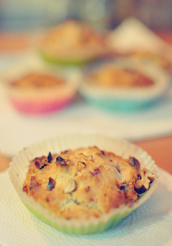 muffins with walnuts and chocolate by FiorOf