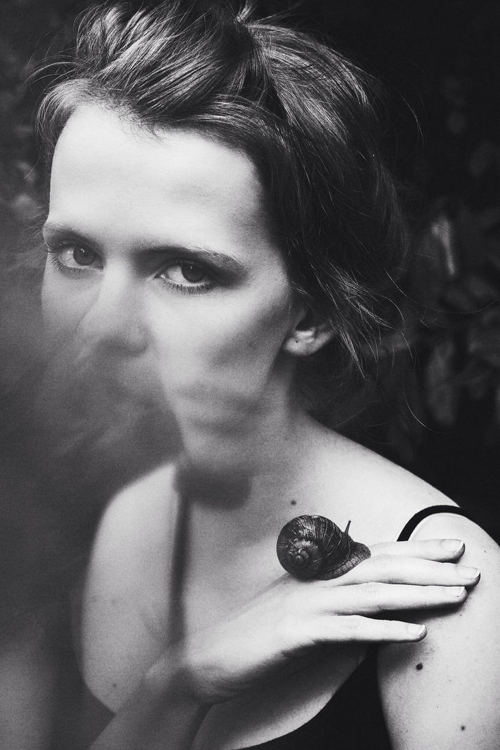 Aneta and snail by FiorOf