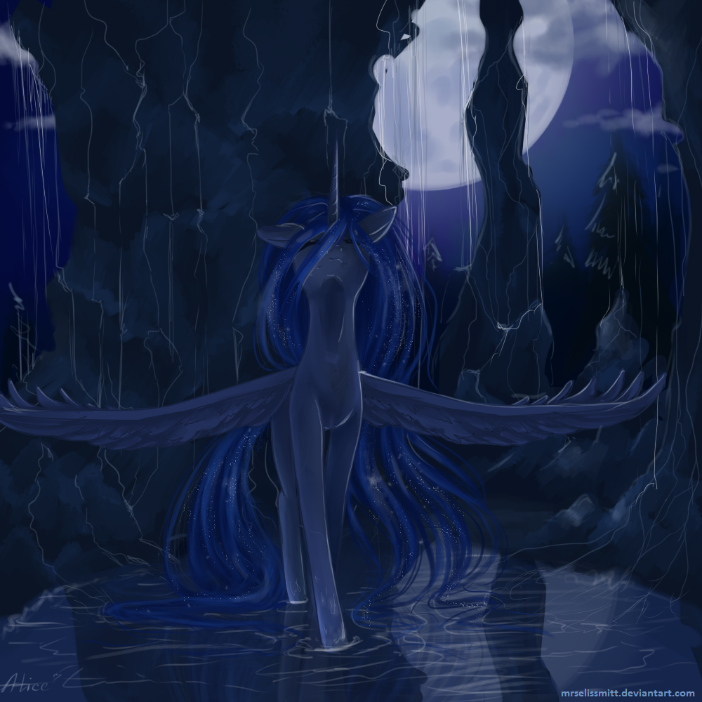 Moon in water by AliceSmitt31