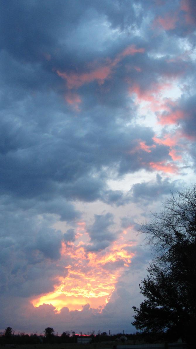 Fiery road in the sky by ShcheglinaT