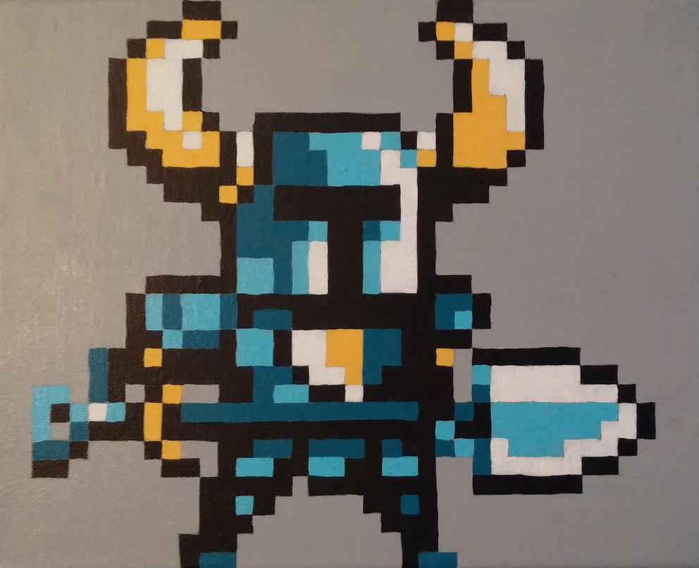 Shovel Knight Pixel Painting by PixelBuddy