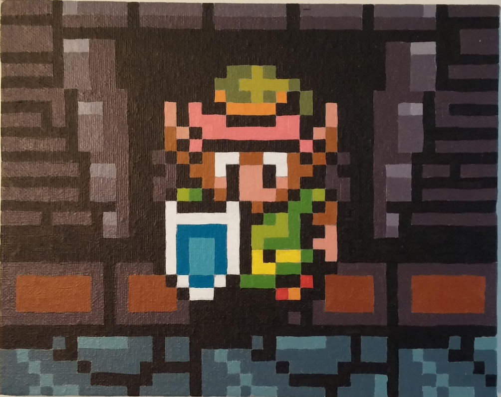 Link SNES A Link to the Past Pixel Painting 2 by PixelBuddy