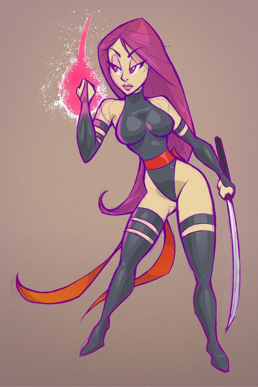 Psylocke by gelipe