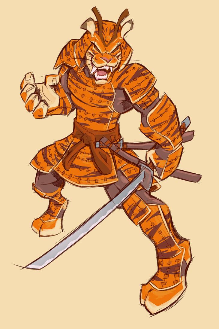 Samurai Tiger by gelipe