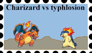 Charizard vs Typhlosion by Abhishek-Rajbhar