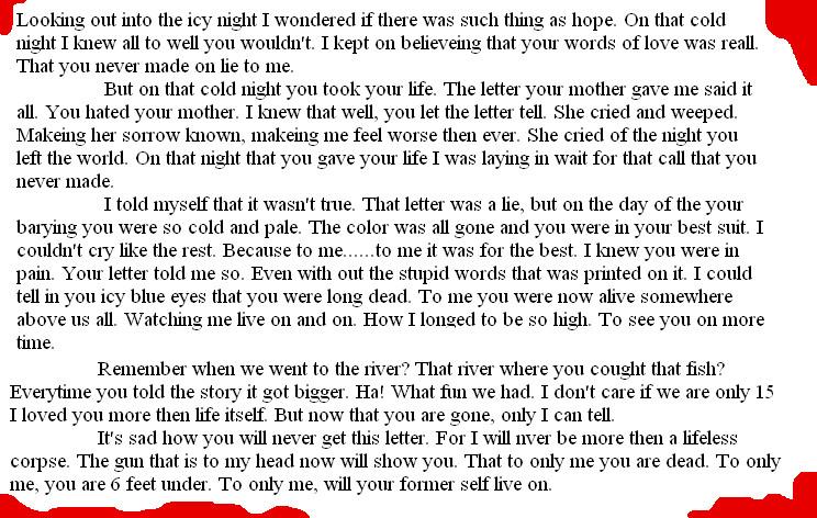 A letter of lies by Zackyadvenger
