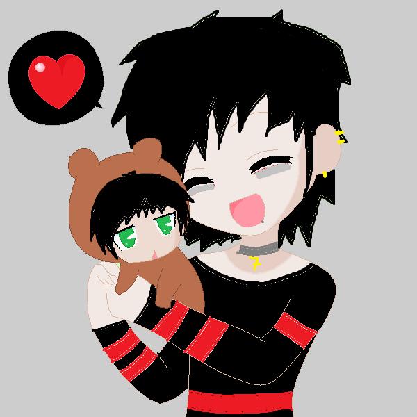 Me and my teddy Zacky V by Zackyadvenger