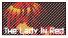 Lady In Red Stamp by Allinardo