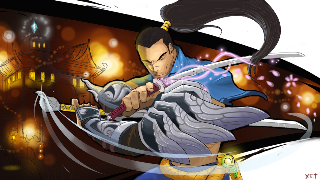 Yasuo Fan Art Contest Yasuo: Lights o...