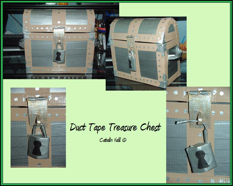 Duct tape treasure chest by celestial moon on deviantart