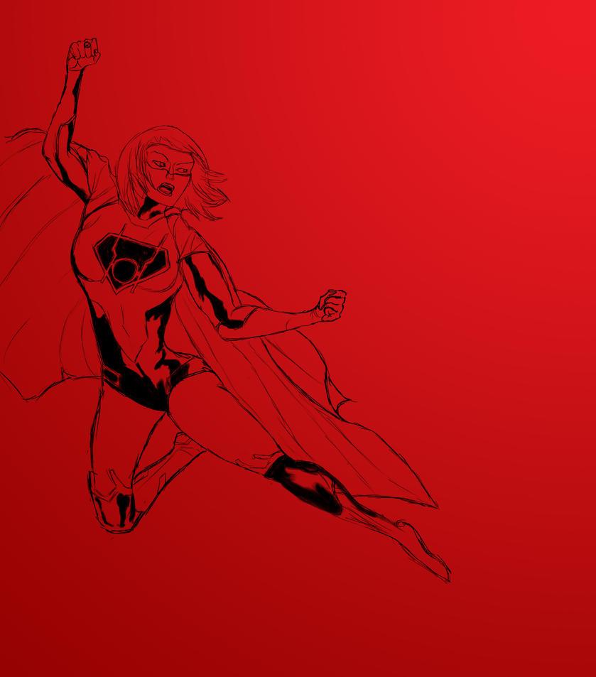 Red Lantern Supergirl by DoctorVan