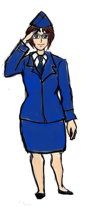 Hanji Zoe as Airwoman by Issuboshi777