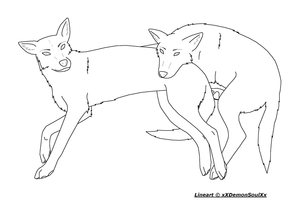 Two lying Wolves or Dogs by xXDemonSoulXx on deviantART