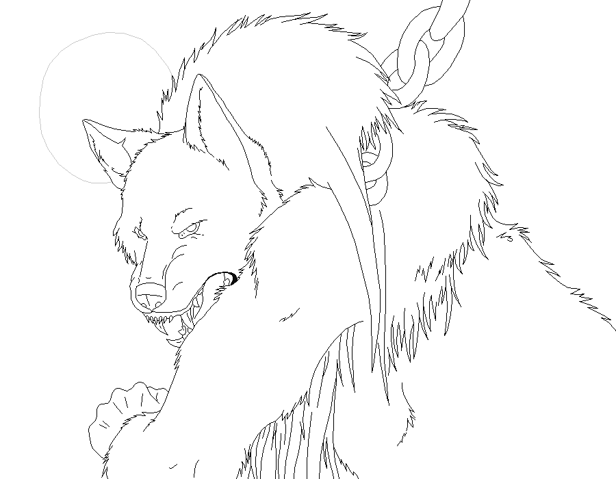 werewolf lineart for ms paint by xxdemonsoulxx on deviantart