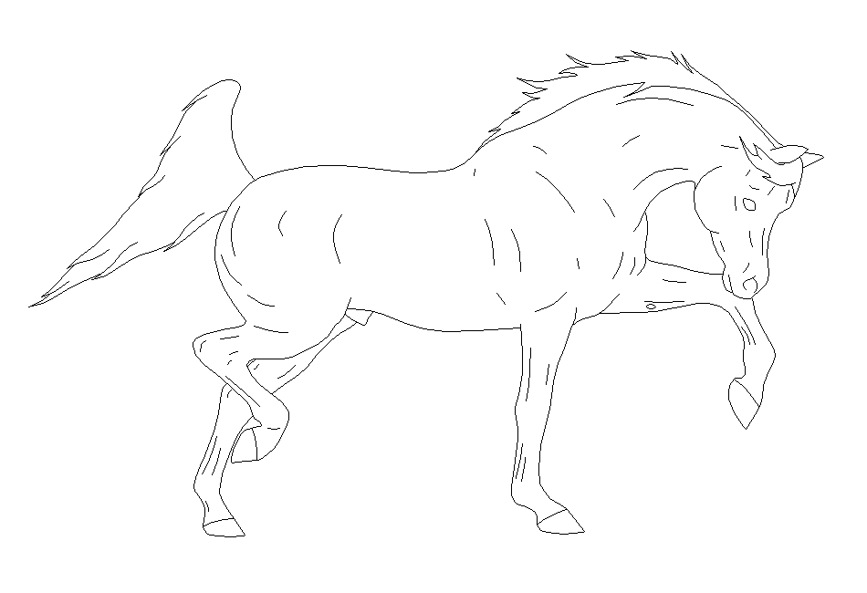 Arabian Stallion Lineart by xXDemonSoulXx on DeviantArt