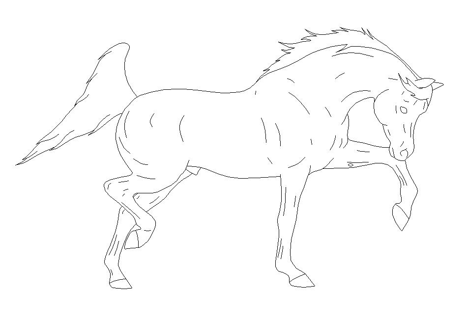 Arabian Stallion Lineart by xXDemonSoulXx on DeviantArt