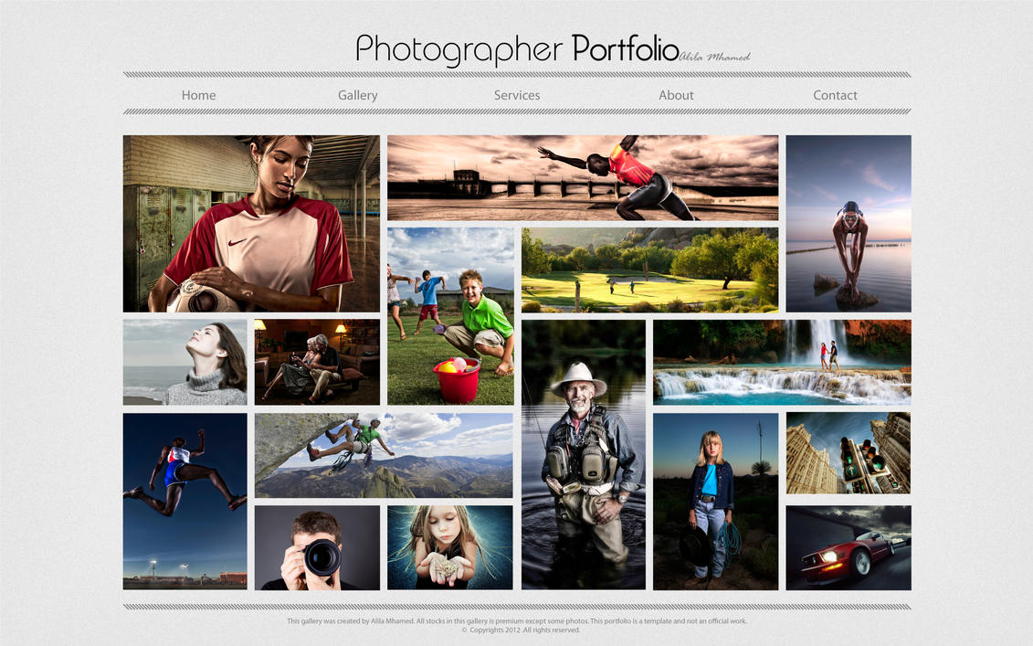 Photographer Portfolio Template By Alilamhamed On DeviantArt - Photography portfolio template