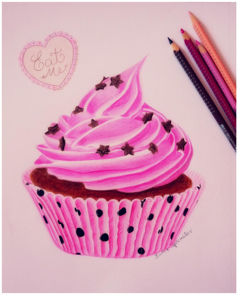 cupcake drawing by barbiespitzmuller on deviantart