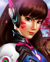 D.va Overwatch digital drawing /chibichan/